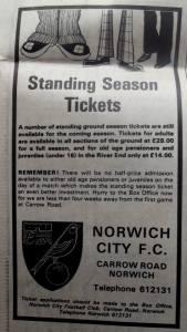 standing ticket